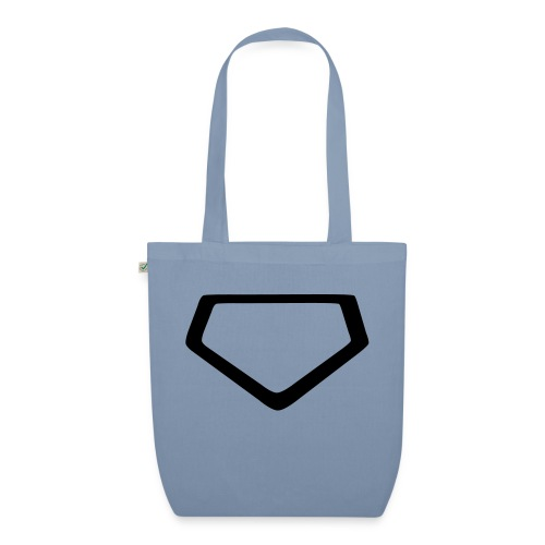 Baseball Homeplate Outline - EarthPositive Tote Bag