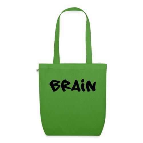 brain schriftzug - Bio-Stoffbeutel
