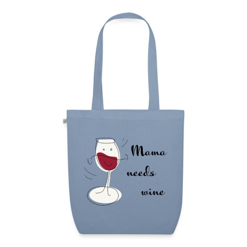 mama needs wine kussen en tas - Bio stoffen tas