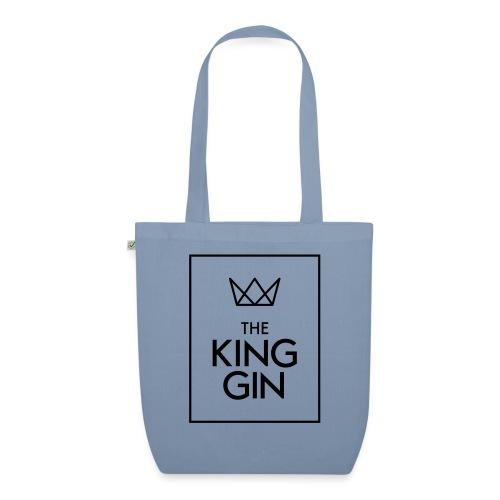The King Gin Logo schwarz RGB Rahmen - Bio-Stoffbeutel
