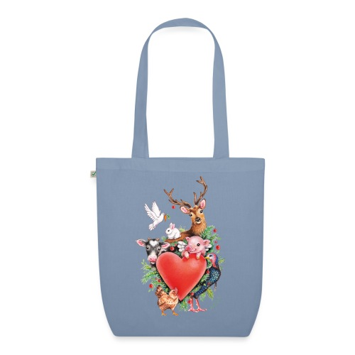 Christmas heart by Maria Tiqwah - EarthPositive Tote Bag