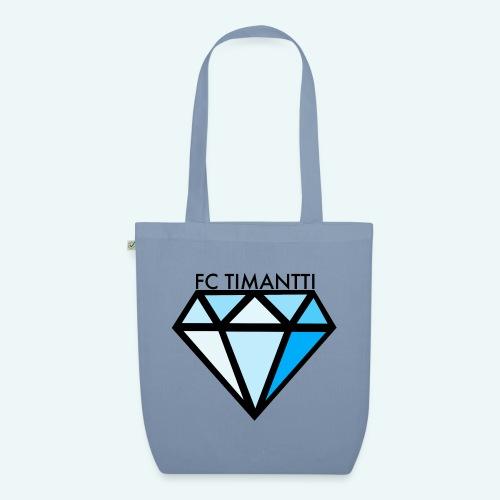 FC Timantti mustateksti - Luomu-kangaskassi