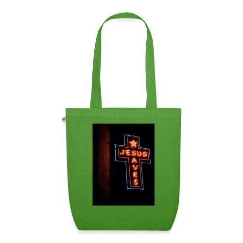 Jesus Saves - EarthPositive Tote Bag
