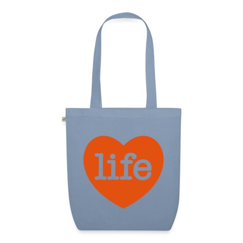 LOVE LIFE heart - EarthPositive Tote Bag