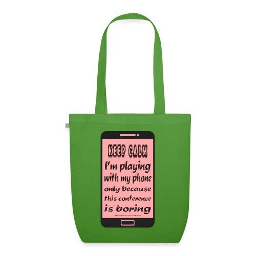 pink phone keep calm - Borsa ecologica in tessuto