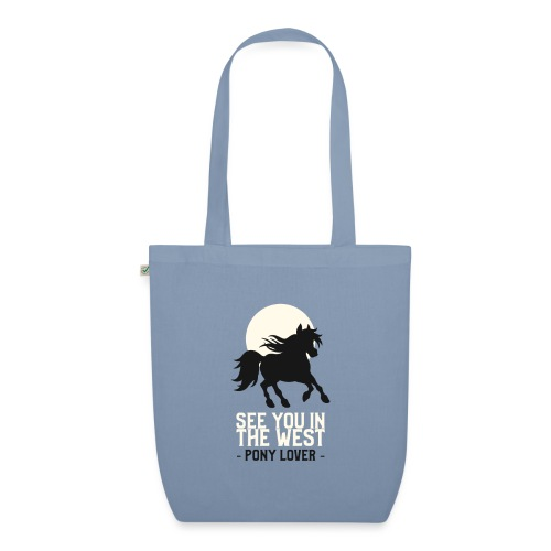 Silhouet pony design voor ponyliefhebbers - Bio stoffen tas