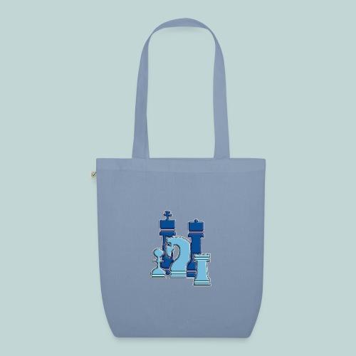 figurengruppeblau2kanten - Bio-Stoffbeutel