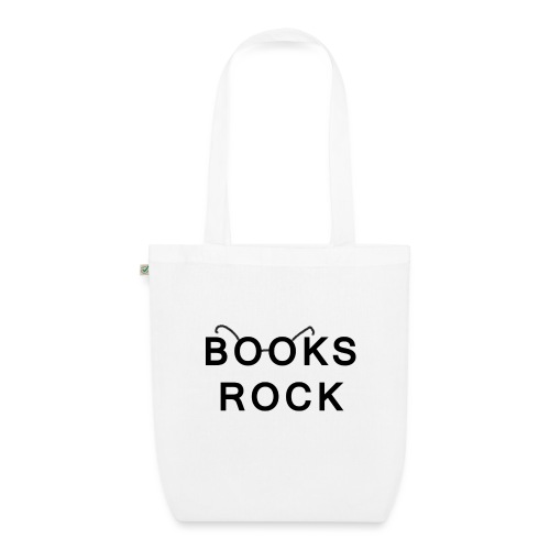 Books Rock Black - EarthPositive Tote Bag