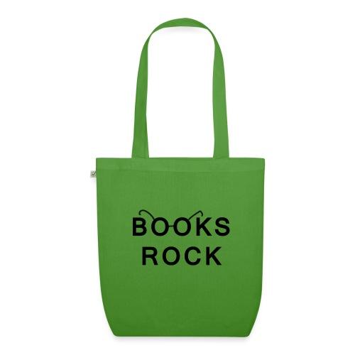 Books Rock Black - EarthPositive Tote Bag
