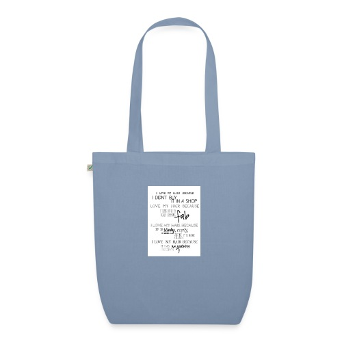 I LOVE MY HAIR - EarthPositive Tote Bag