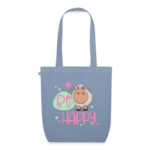 Be happy Schaf - Glückliches Schaf - Glücksschaf - Bio-Stoffbeutel