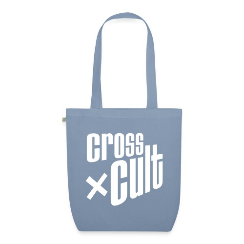 Cross Cult Logo Weiß - Bio-Stoffbeutel