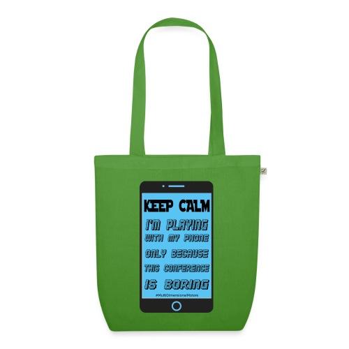 blue phone keep calm - Borsa ecologica in tessuto