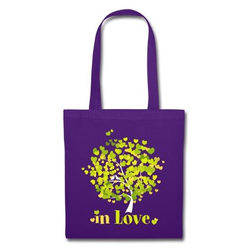 Love Liebe Amor Vogel Herz Baum Valentin - Tote Bag