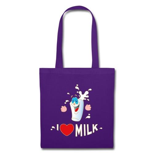 I love Milk Kuh Weide Sahne Schokolade Milchkaffee - Stoffbeutel