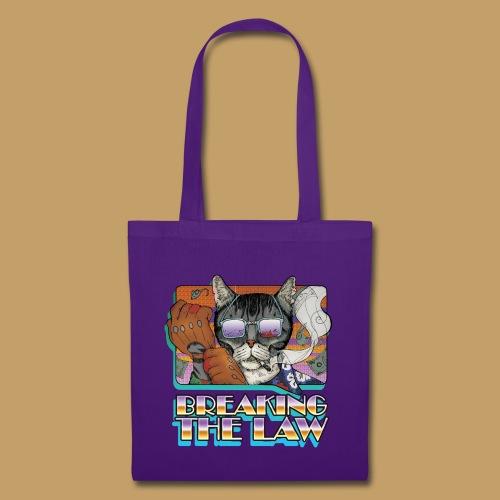 Crime Cat in Shades - Braking the Law - Torba materiałowa