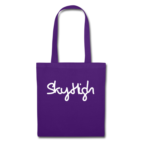 SkyHigh - Men's Premium Hoodie - White Lettering - Tote Bag