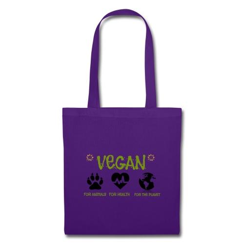 Vegan for animals, health and the environment. - Bolsa de tela