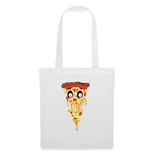 Schockierte Horror Pizza - Stoffbeutel