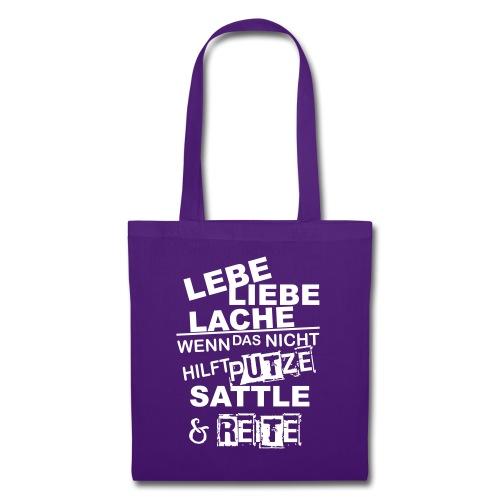 Lebe Liebe Lache Reite - Stoffbeutel