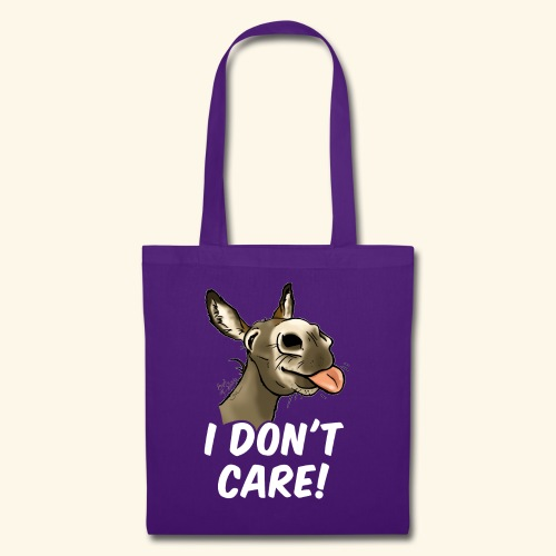 Ane I don't care! (texte blanc) - Tote Bag