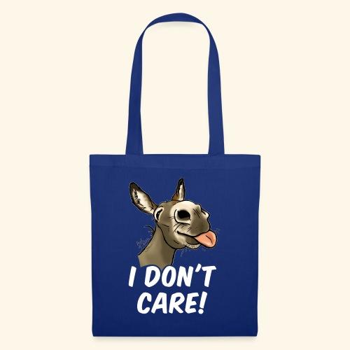 Ane I don't care! (texte blanc) - Tote Bag