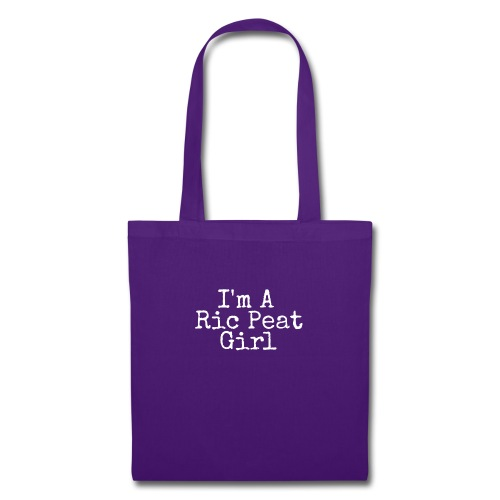 Ric Peat Girl (White Text) - Tote Bag
