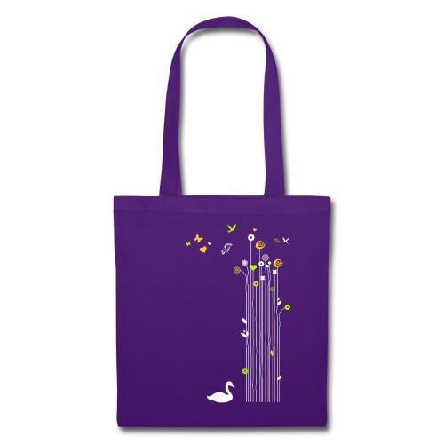 Frühling Schwan Blüten Schmetterlinge Valentinstag - Tote Bag