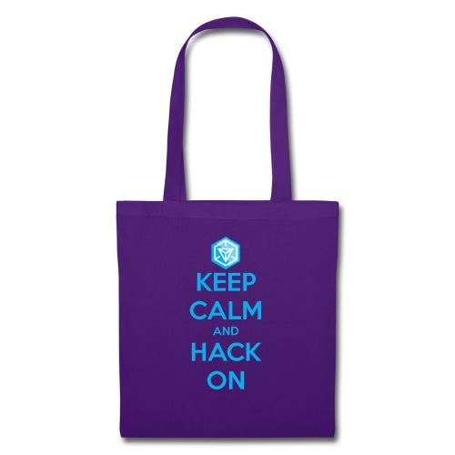 keep calm and hack on - Borsa di stoffa