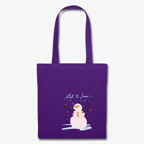 snowman let it snow - Tote Bag
