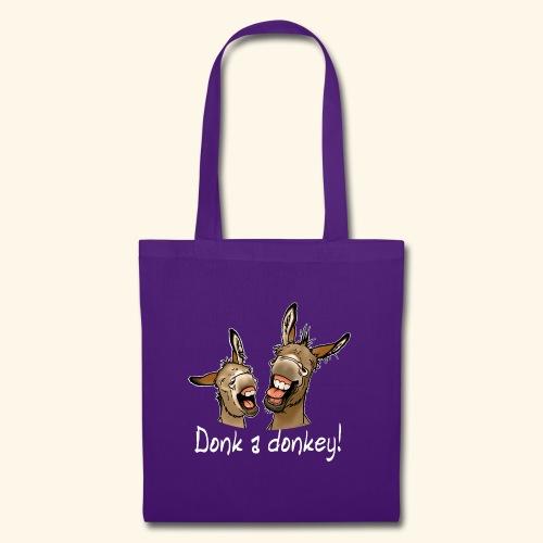 Ane Donk a donkey (texte blanc) - Tote Bag