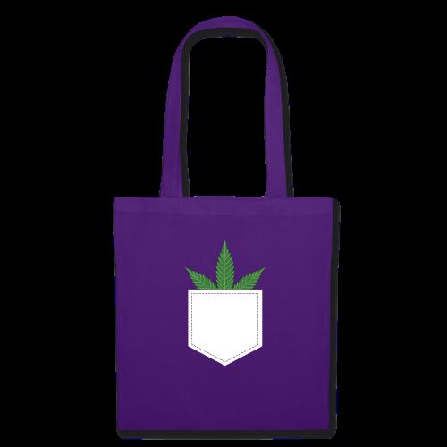 Brusttasche mit Marihuana / Cannabisblatt - Stoffbeutel