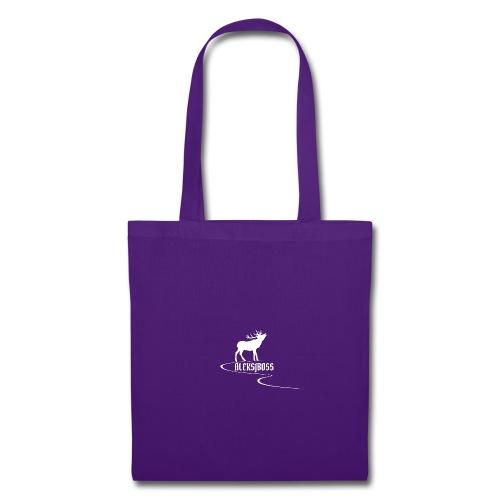 Collezione aleksjboss logo bianco - Borsa di stoffa