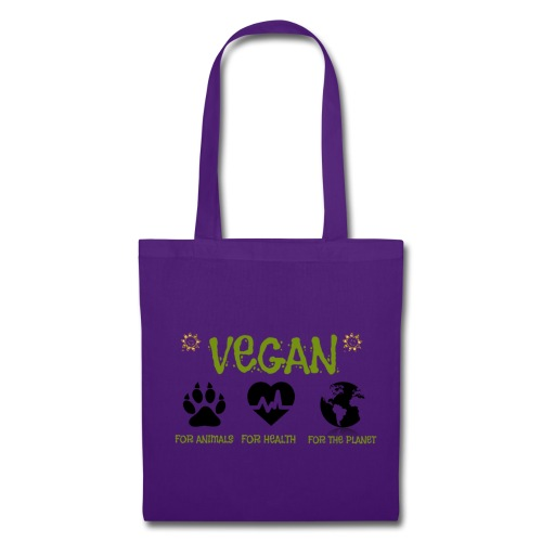 Vegan for animals, health and the environment. - Bolsa de tela