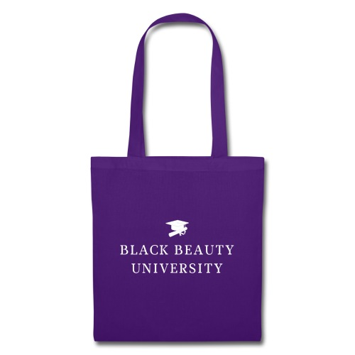 BLACK BEAUTY UNIVERSITY LOGO BLANC - Tote Bag