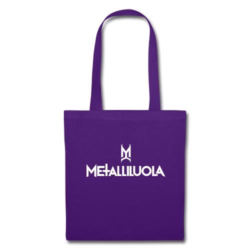 Metalliluola valkoinen logo - Kangaskassi