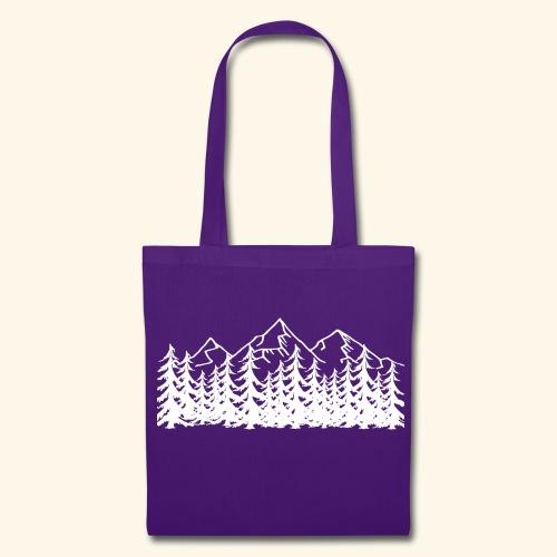 Berge Wälder weiß Mountains Woods - Stoffbeutel