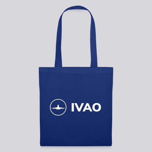 IVAO (Logo Complet Blanc) - Sac en tissu
