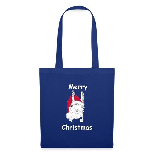 Weihnachtslama - Stoffbeutel