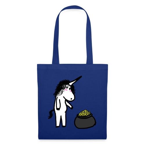Oro unicorno - Borsa di stoffa