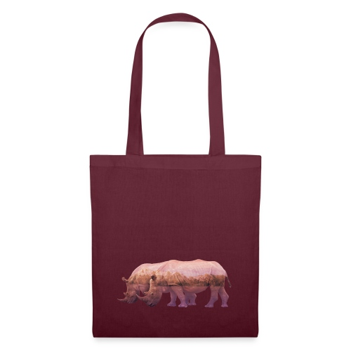 Nashorn Alpen - Stoffbeutel