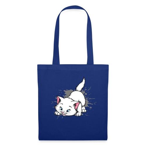 Katze Splash Pfützen Sprung - Stoffbeutel