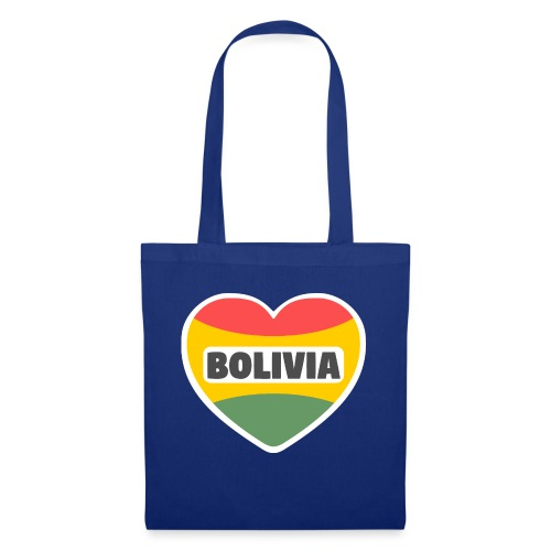 Bolivia en mi corazón tricolor - Bolsa de tela