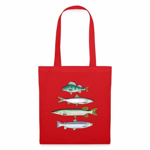 FOUR FISH - Ahven, siika, hauki ja taimen tuotteet - Kangaskassi