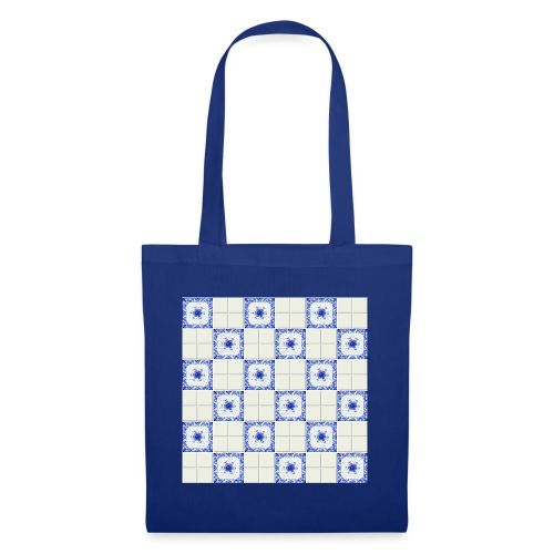 DutchieBlue1-Tile Pattern - Tas van stof