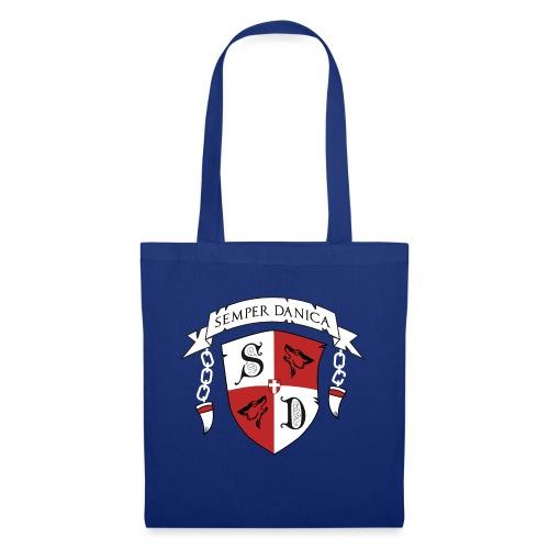 SD logo - hvide lænker - Mulepose