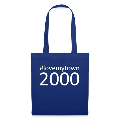 lovemytown2000wit - Tas van stof
