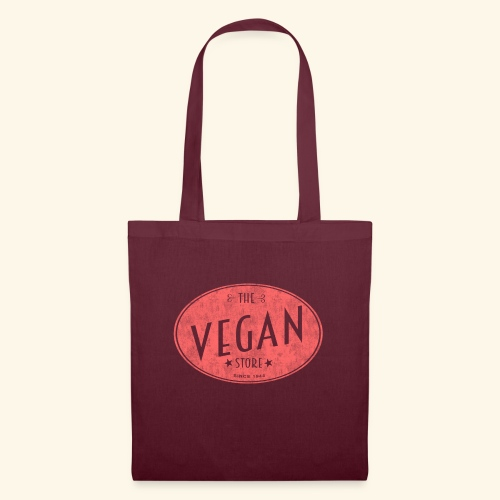 The Vegan Store - Vintage Store Logo design - Tote Bag