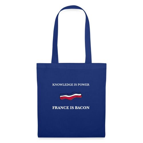 France is Bacon (Blue) - Tote Bag