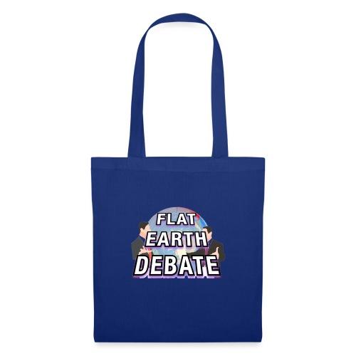 Flat Earth Debate Solid - Tote Bag
